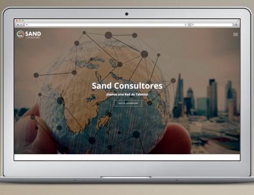 One Page Web Responsive Sandconsultores.com